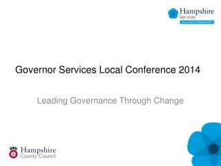 Governor Services Local Conference 2014