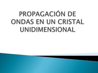 PROPAGACIÓN DE ONDAS EN UN CRISTAL UNIDIMENSIONAL