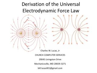 Derivation of the Universal Electrodynamic Force Law