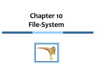 Chapter  10   File-System