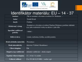 Identifikátor materiálu: EU –  14  - 37