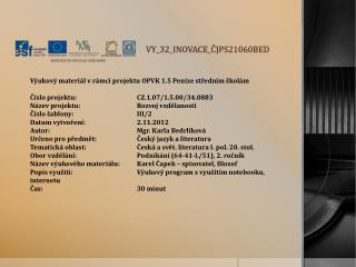 V Y_32_INOVACE_ ČJPS21060BED
