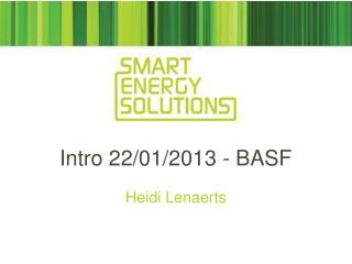 Intro 22/01/2013 - BASF