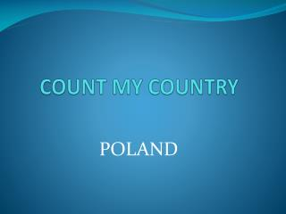 COUNT MY COUNTRY