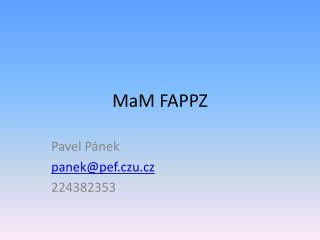 MaM  FAPPZ