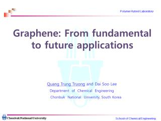 Graphene: From fundamental  to future applications