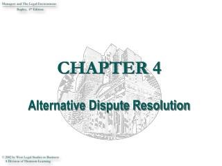 CHAPTER 4  Alternative Dispute Resolution