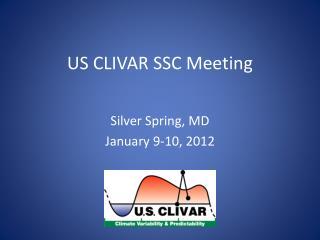 US CLIVAR SSC Meeting