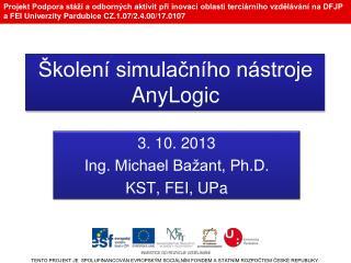 Školení simulačního nástroje  AnyLogic