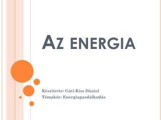 Az energia