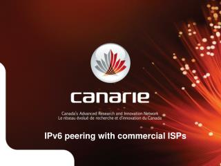 IPv6 peering with commercial ISPs