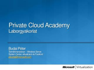 Private Cloud Academy Laborgyakorlat
