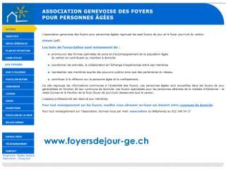 ASSOCIATION GENEVOISE DES FOYERS POUR PERSONNES