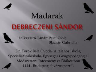 Debreczeni Sándor