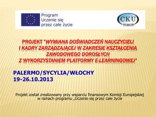 PALERMO/SYCYLIA/WŁOCHY 19-26.10.2013