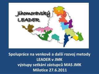 Dosažené výsledky činností MAS JMK