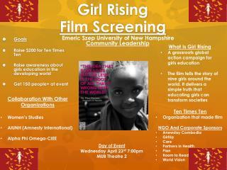 Girl Rising  Film Screening