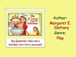 Author :   Margaret E. Slattery Genre:  Play
