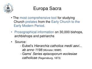 Europa Sacra