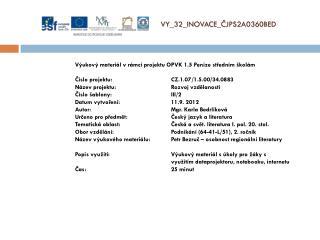 V Y_32_INOVACE_ ČJPS2A0360BED