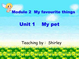 Module 2  My favourite things Unit 1    My pet
