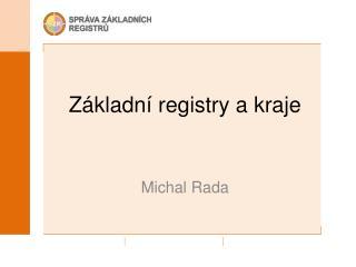 Základní registry a kraje