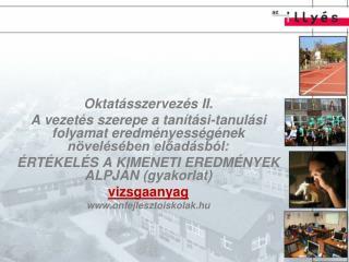Oktatásszervezés II.