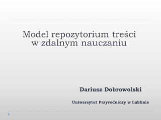 Model repozytorium treści w zdalnym nauczaniu