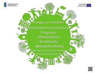 Postępy we wdrażaniu  środowiskowych priorytetów Programu  Infrastruktura  i Środowisko