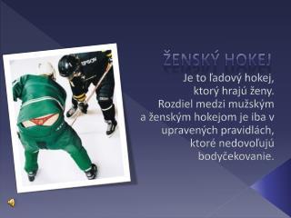 Ženský hokej
