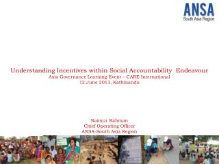 Understanding Incentives within Social Accountability  Endeavour