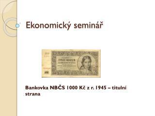 Ekonomický seminář