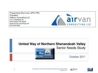 United Way of Northern Shenandoah Valley Senior Needs Study