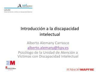 Introducción a la discapacidad intelectual