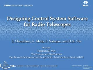 Designing Control System Software for Radio Telescopes