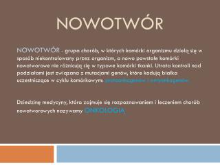 NOWOTWÓR