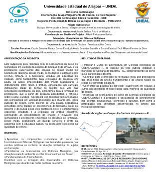 Universidade Estadual de Alagoas – UNEAL