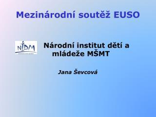 Mezinárodní soutěž EUSO