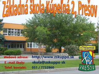 Základná škola Kúpeľná 2, Prešov