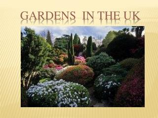 Gardens  in the UK
