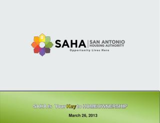 SAHA  Is  Your  Key  to HOMEOWNERSHIP