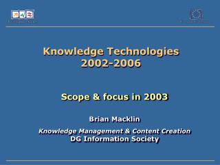 Knowledge Technologies 2002-2006