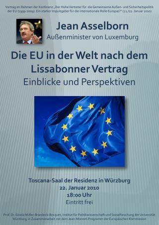 Toscana-Saal der Residenz in W�rzburg 22. Januar 2010 18:00 Uhr Eintritt frei