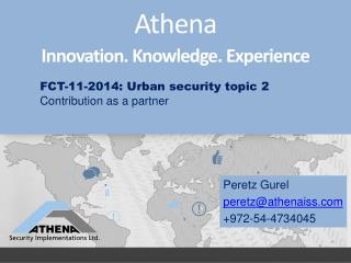 Athena Innovation. Knowledge. Experience