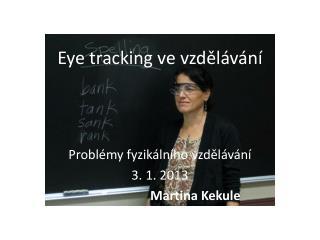Eye tracking  ve vzdělávání