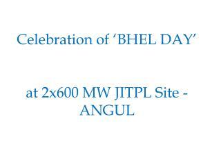 Celebration of 'BHEL DAY'  at 2x600 MW JITPL Site - ANGUL