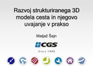 Razvoj strukturiranega 3D modela cesta in njegovo uvajanje v prakso