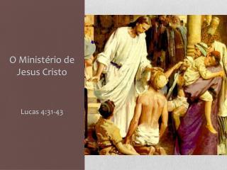 O  Ministério  de Jesus Cristo