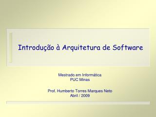 Introdu��o � Arquitetura de Software