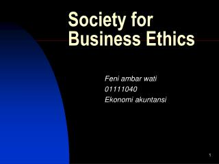 Society for Business Ethics